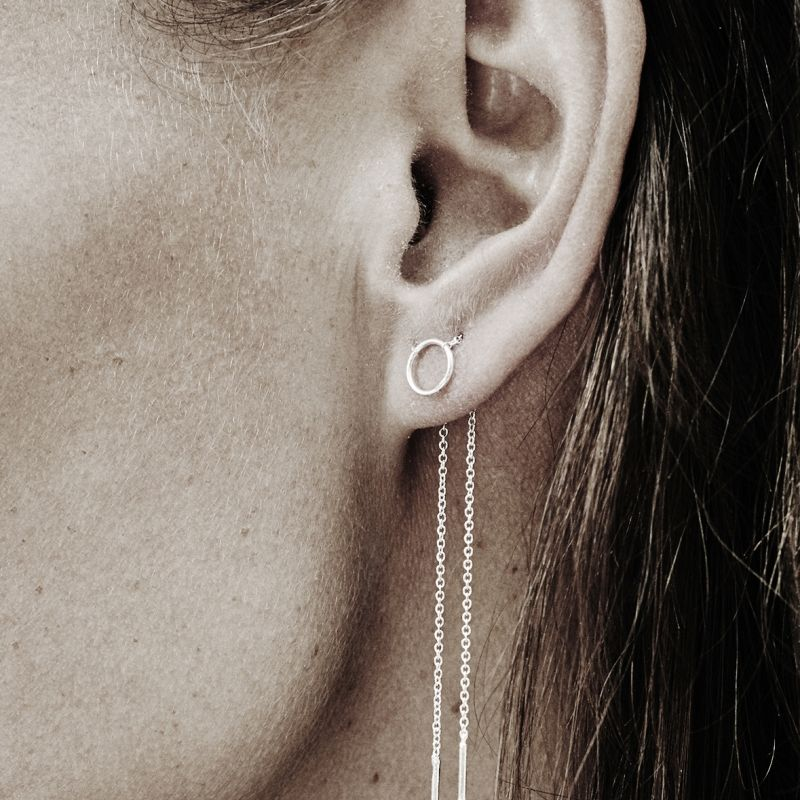 Little loop chain - earring | MECH - SS