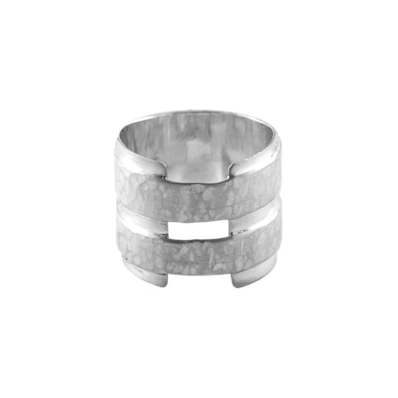 Double band plate - ring men | MRDBPMK-SS