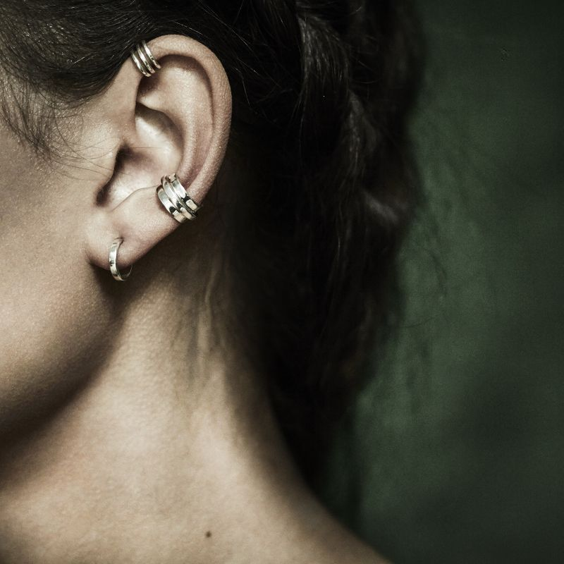 Band - earring SS