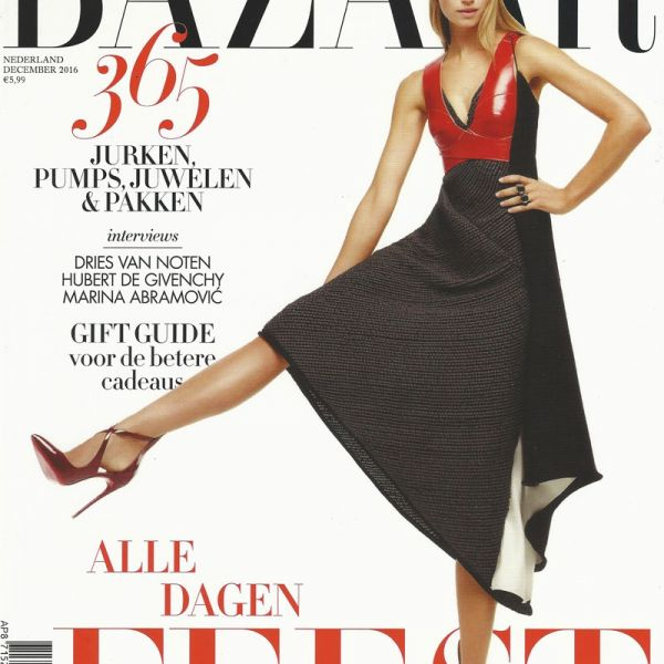 Monocrafft on the cover of Harpers Bazaar NL