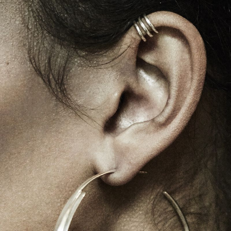 Triple band stack - ear cuff | METBSC-YGP
