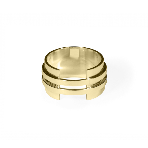 Double band plate - ring | MRDBP - YG