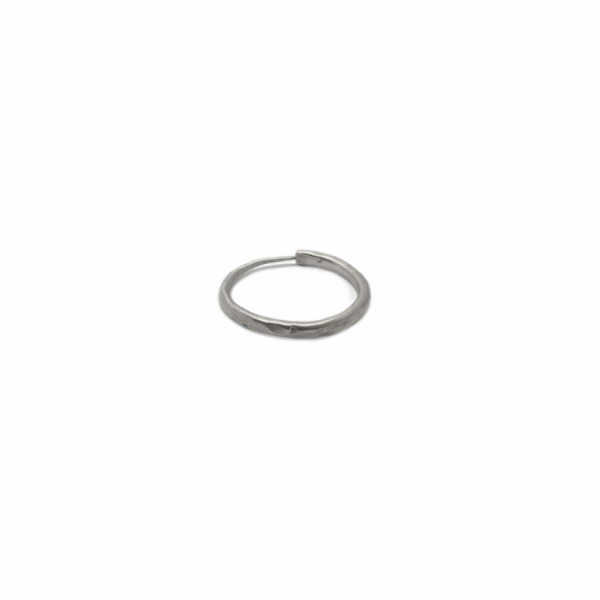 Hammered Hoop small - earring  | MEHHS-SS