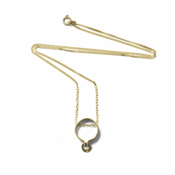 No. 7 - hoop necklace | MN7H - YG